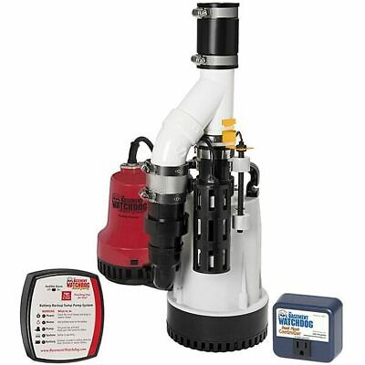 Basement Watchdog Dfk-961 - 13 Hp Combination Primary And Backup Sump Pump S...