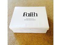Faith black sparkly heels - size 5