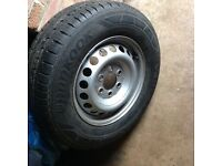 Vw crafter/Mercedes sprinter 2007-2016 steel wheel with new tyre