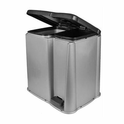 Doble Cubo de Basura Pedal Recolectores Residuos Papelera