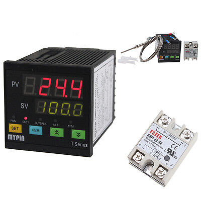Digital Pid Fc Ssr Thermostat Temperature Controller Pt100 Thermocouple Sensor