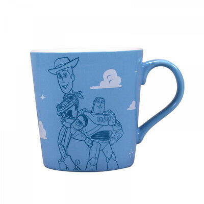 OFFICIAL DISNEY TOY STORY WOODY BUZZ BLUE TAPERED COFFEE MUG CUP NEW IN GIFT BOX - Blue Mug Cup