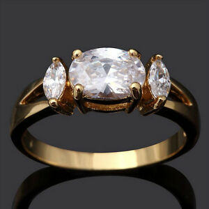 Beautiful Oval White Sapphire 10KT Gold Filled Ring Edmonton Edmonton Area image 1