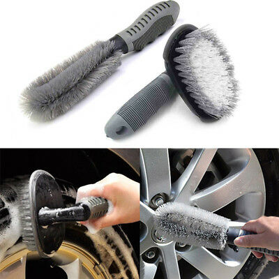 2Pcs For Auto Motorcycle Wheel Tire Rim Hub Cleaning Brush Wash Scrub Tools