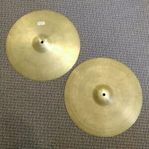 Cymbales Zildjian Hi hats 15 Rock 1970s usagées-used