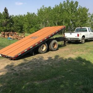 18 foot tandem dually equipment trailer tilt deck