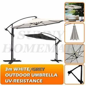 3 Meter Cantilever Outdoor Umbrerlla Garden Patio Fishing Rod Derrimut Brimbank Area Preview
