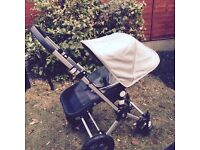 Bugaboo Cameleon 3 Pushchair and Carrycot with Raincover, Black and Silver
