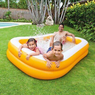 Intex Mandarin Heavy Duty Orange Outdoor Family Paddling Swimming Pool Kids