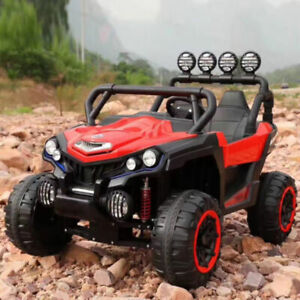 Kids 12V Two Seater 4-Wheel Drive Off Road Electric Car-$400