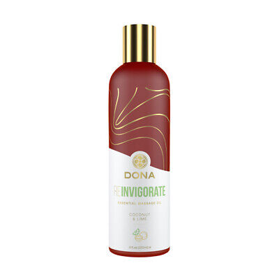 Coconut Essential Oils Massage Oil - Dona Essential Massage Oil Reinvigorate Coconut Lime 4oz - 100% Natural