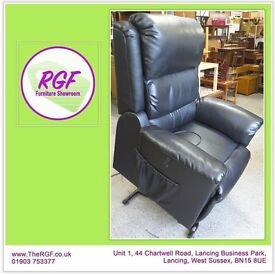 SALE NOW ON!! Black Leather Electric Reclining Armchair - Can Deliver For £19