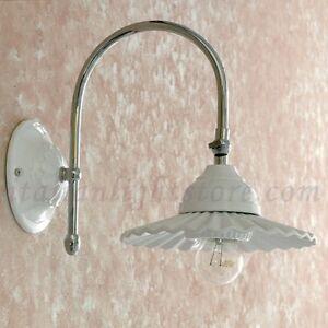 Applique lampada parete classico acciaio cromo cromato - Applique per bagno classico ...