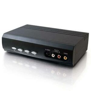 C2G 4x2 S-Video + Composite Video + Stereo Audio Selector Switch - 4 Input and 2 Output - 28750