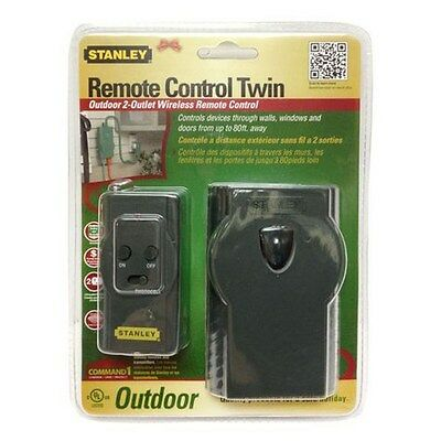 STANLEY - Outdoor Remote Control Twin Grounded Outlet  (Stanley Remote)