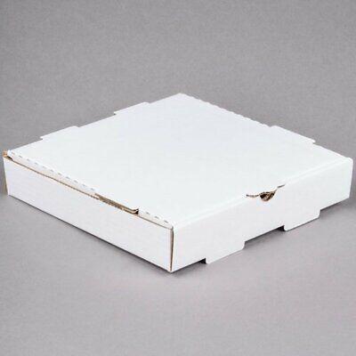12 X 12 X 2 White Corrugated Plain Pizza Bakery Box - 50bundle