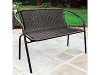 2 Seater Garden Bench - Brown