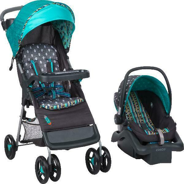 Baby Stroller And Car Seat Combo Infant Comfort Walker Travel System Feather New