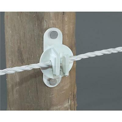 20 Pk Dare Nail On Wood Post Polyrope Electric Fence Insulator 25pk Snug-htw