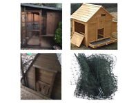 Chicken Keeping Job Lot! Several coops and runs and netting!