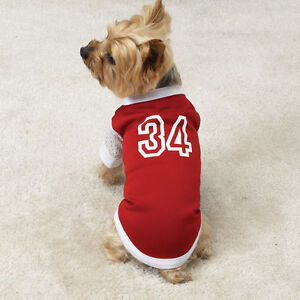 Large Dog Shirt Baseball Jersey Poodle Labrador Pet Clothing Pet Shirts Spaniel