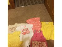 Bundle of newborn girls clothes