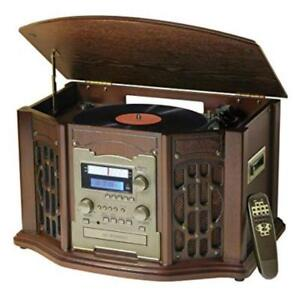 Wooden Music Center with Recordable CD Player by Innovative Technology ITRR-501