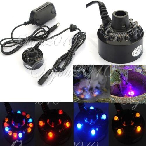 Ultrasonic 12-LED Mist Maker Fogger Atomizer Air ...