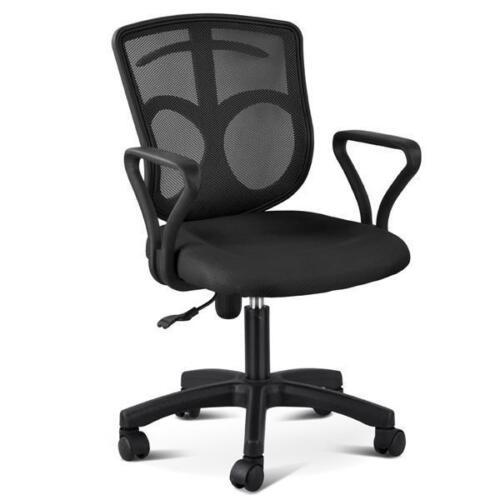 black executive ergonomic mesh computer office desk task midback