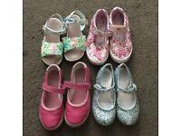 Bundle of girls shoes size 10