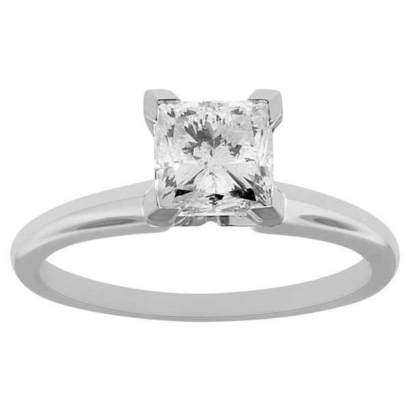 1.40 Ct Princess Cut Solitaire Diamond Engagement Ring 14k White Gold Vs2 Clean