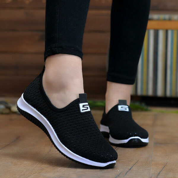 Women/'s Breathable Mesh Sports Casual Shoes Running Walking Sneakers Flat Shoes