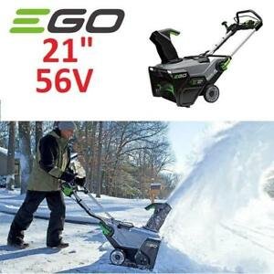 "NEW EGO 21"" CORDLESS SNOWBLOWER 56V SNT2102 218526995 LITHIUM ION KIT 2 BATTERIES AND 550W CHARGER"