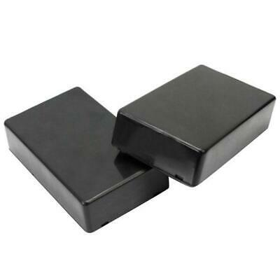 2pcs Black Abs Electronic Project Enclosure Plastic Case Screw Junction Box
