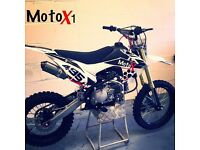 Brand new 160cc MotoX1 Pitbike dirtbike like Stomp DemonX wpb