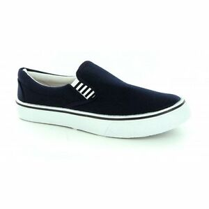 womens canvas slip on gusset yachting