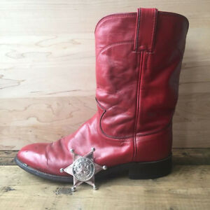 Red Leather Cowboy Boots (Country Style Wedding)