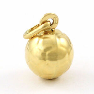 18k Yellow Gold Soccer Ball Pendant (new charm) 3606