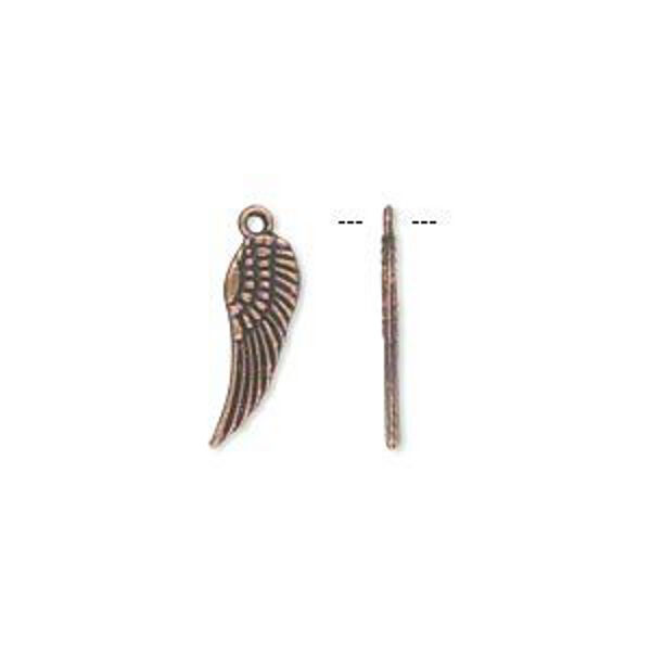 Wing Charms Copper Steampunk Antiqued 14mm Lot of 20