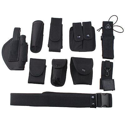 Police Security Modular Equipment System Duty Belt Holster Molded Nyon Set Black