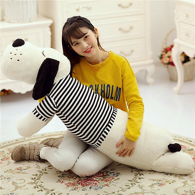 Huge Large 90Cm Shirts Dog Lying Plush Dolls Stuffed Toy Cute Soft Pillow Gift