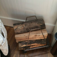 LOG HOLDER AND LOGS