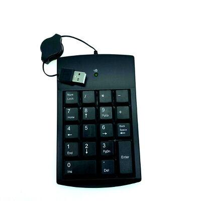 Key Keypad - Numeric # Keypad Number 18 Keys Pad Keyboard W/ Retractable USB Cable For Laptop