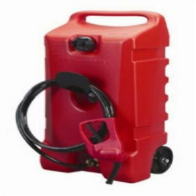 Tank Fuel Container Gas Can Storage Portable Hand Pump Transfer Wheels 14 Gallon