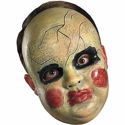 SMEARY DOLL FACE MASK PURGE GREEN BLACK RED Halloween - Green Face Mask Halloween