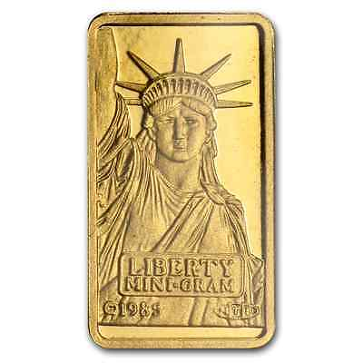 Gold  1 Gram Pure  999 Statue Of Liberty Gold Bar  Sealed  Credit Suisse   68 88
