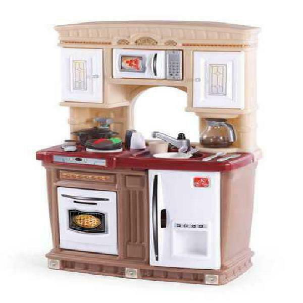 Step2 Lifestyle Fresh Accents Play Kitchen with 30 Piece Acc