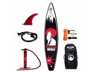 BRAND NEW WildSUP! Inflatable Sup board Howling Wolf 12,6′ for SALE! Stand up paddle board!