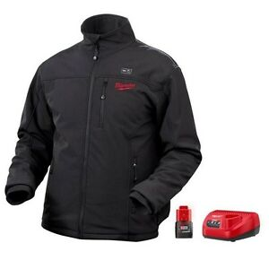Milwaukee Heated Jacket (black) with Battery & Charger.