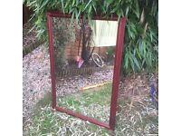 Mahogany coloured mirror